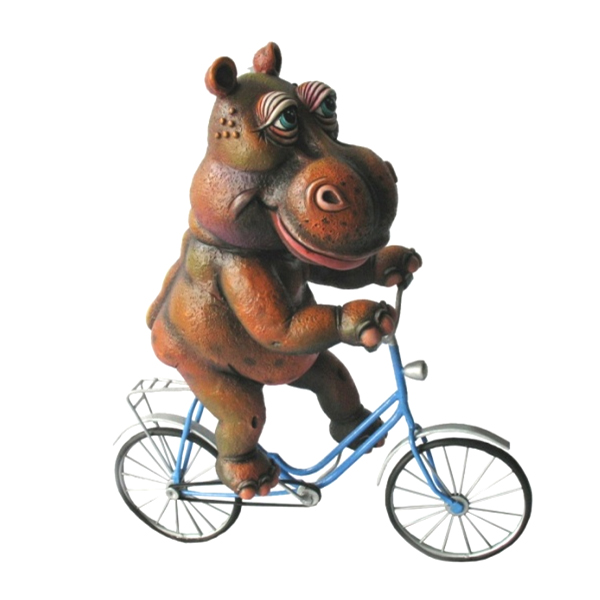 Hippo on Bicycle