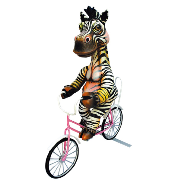 Zebra on Bicycle